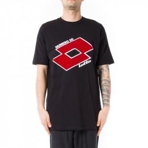 Numero 00 x lotto t-shirt nera uomo con logo
