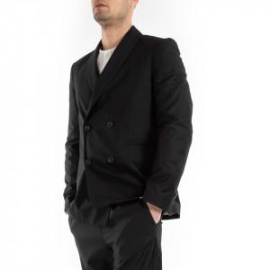 Choice giacca doppiopetto uomo nera