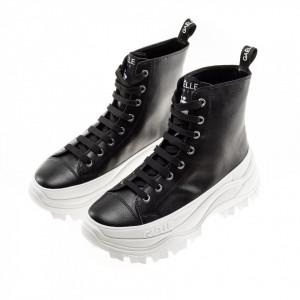 Gaelle-sneakers-running-donna-nere-pelle