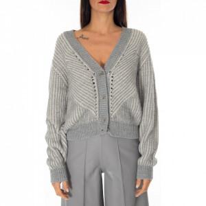Jijil cardigan lana grigio