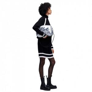 Karl-Lagerfeld-signature-soft-bag-silver