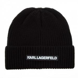 Karl Lagerfeld cappello nero in lana