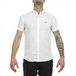 Krowstadt camicia maniche corte bianca uomo