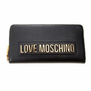 Moschino Love portafoglio nero con zip