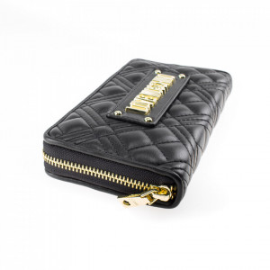 Love-moschino-portafoglio-nero-trapuntato-con-zip