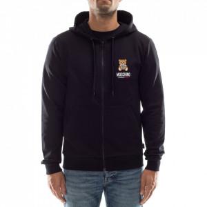 Moschino man sweatshirt with zip