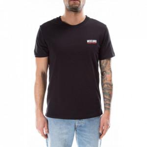 Moschino tshirt nera stripe logo