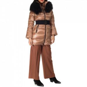 NoSecret long brown down jacket