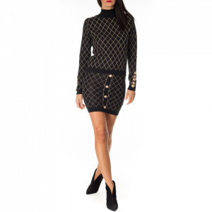 NoSecret rhombus print longuette skirt