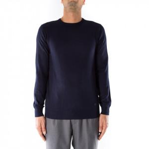 OUTFIT maglia in lana girocollo blu