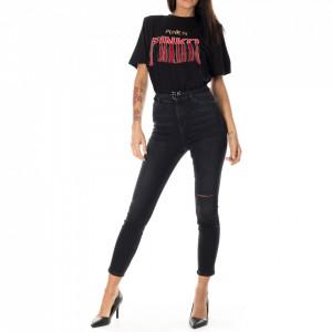 Pinko jeans skinny vita alta nero