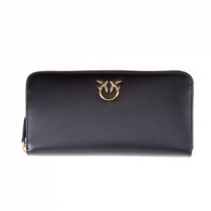 Pinko portafoglio nero con zip