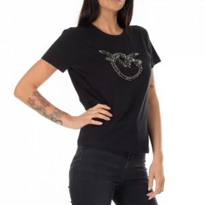 Pinko t-shirt nera love birds