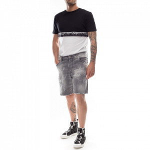 Studio Homme bermuda in jeans grigio