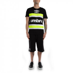 Umbro t shirt sportiva uomo nera fluo
