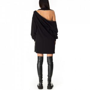 woman-casual-short-dress-black