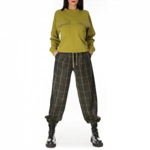 Jijil pantalone verde a quadri