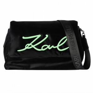 Karl Lagerfeld borsa signature soft nera