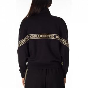Karl-Lagerfeld-black-sweatshirt-with-zip