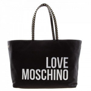 Love Moschino shopping bag tessuto nero