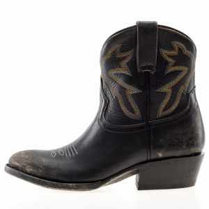 Mezcalero black low texan boots
