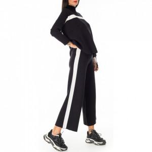 NoSecret pantalone in maglia nero