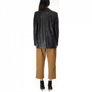 Pinko-giacca-nera -ecopelle
