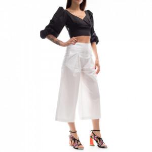 Pinko pantalone gaucho bianco