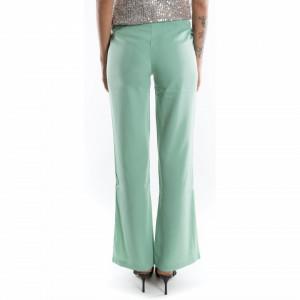 pantalone a palazzo menta elegante