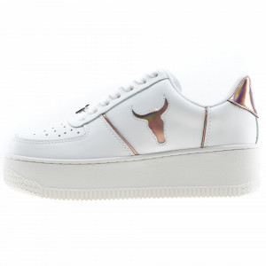 Windsor Smith sneakers platform in pelle bianche