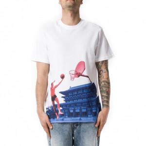 Les Benjamin t-shirt stampata bianca uomo