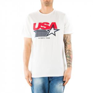 Eleven Paris t-shirt bianca usa olympic team