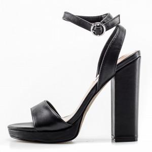 Steve Madden sandali neri tacco largo