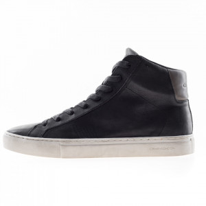 Crime London sneakers alte in pelle nere