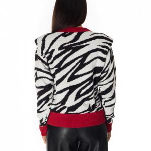 Gaelle-maglione-con-spalline-zebrato