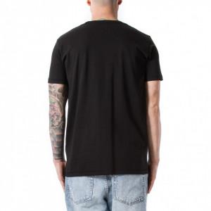 Happiness t shirt con scritta uomo nera