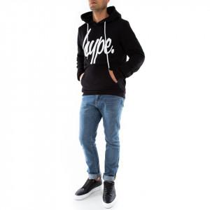 Hype felpa nera con cappuccio
