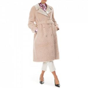 Isabelle Blanche cappotto pelliccetta beige