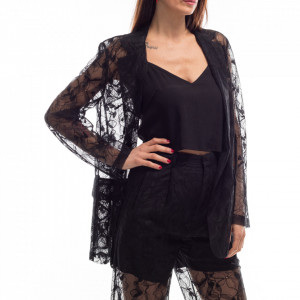 Isabelle Blanche giacca in pizzo nera