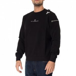 John Richmond black crewneck sweatshirt
