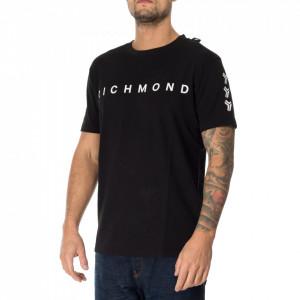 John Richmond black logoed tshirt
