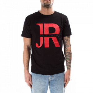 John Richmond t-shirt nera con logo rosso