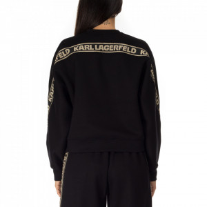 Karl-Lagerfeld-black sweatshirt-gold-bands