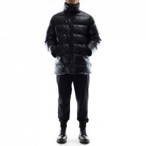 Karl Lagerfeld piumino ecopelle nero