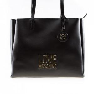 Love Moschino borsa a spalla nera grande