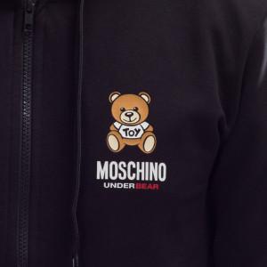 Moschino-felpa-uomo-con-zip-bear