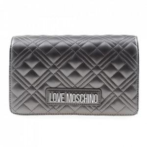 Moschino Love borsa piccola argento trapuntata