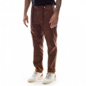 Myths pantalone uomo marrone jogger