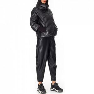 NoSecret short black down jacket