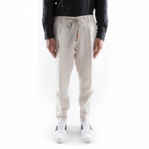 Outfit pantalone lino bianchi